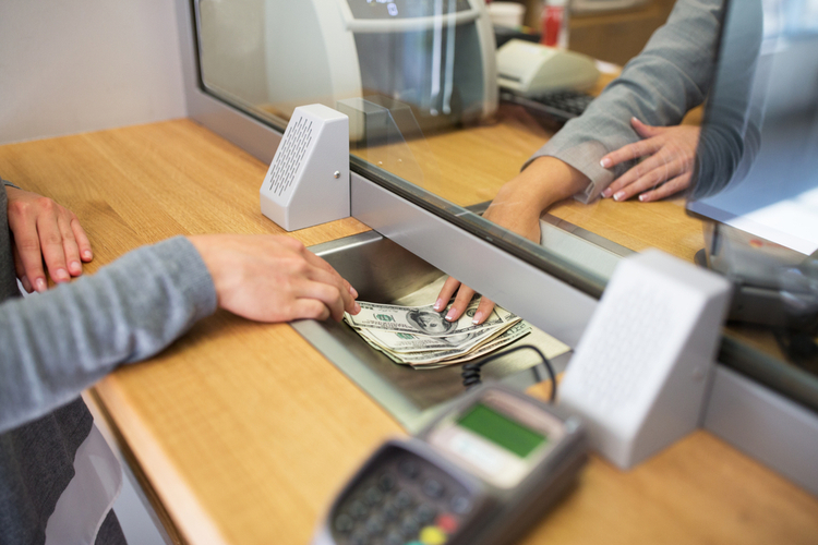 cash transfer in a bank